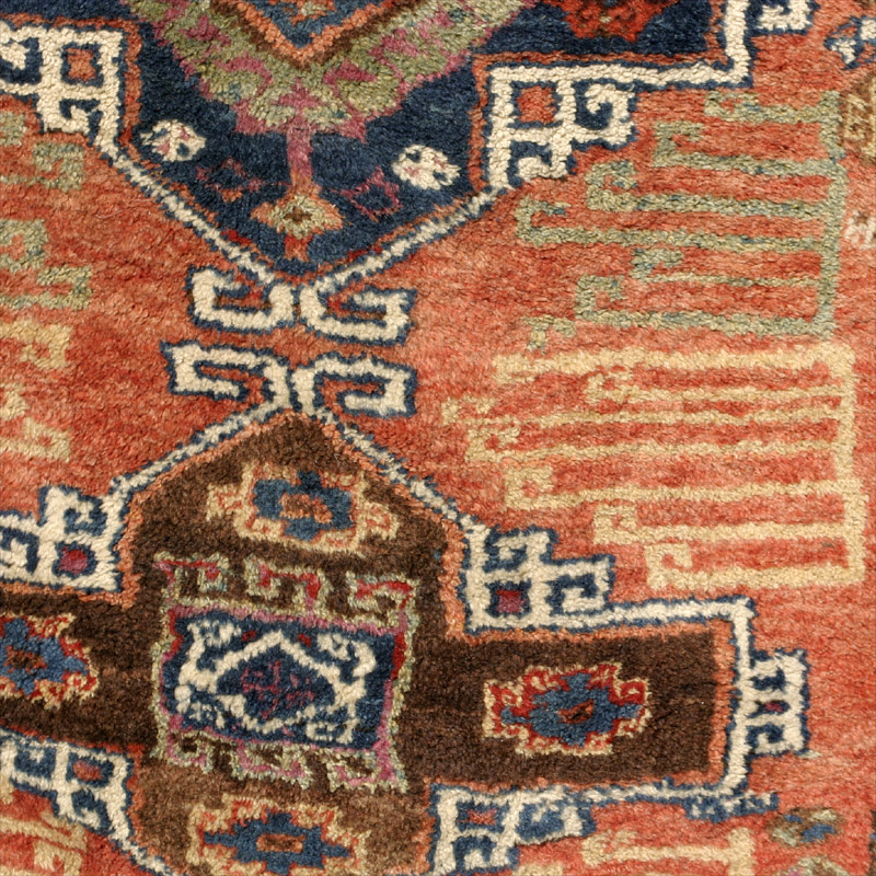 Full Pile Anatolian Village Rug Probably Kurdish Malatya