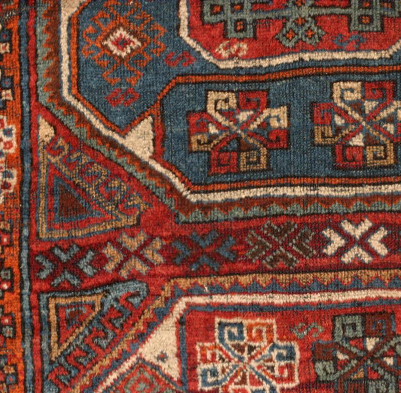Anatolian Large Pattern Holbein Long Rug Yuruk Or Kurdish