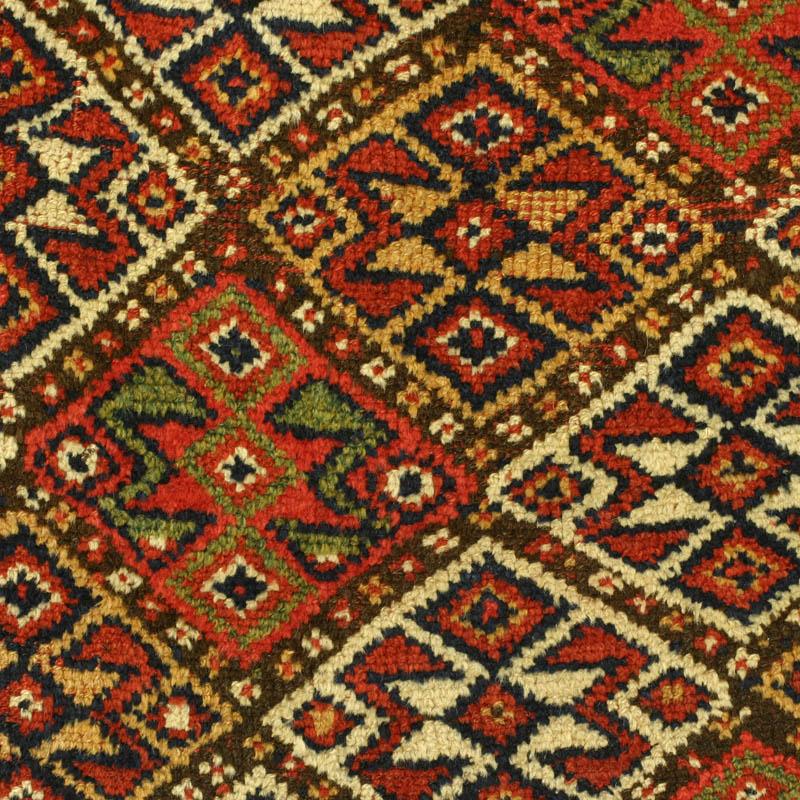 East Persian Khorassan Kurd Quchan Kordi Rug With All